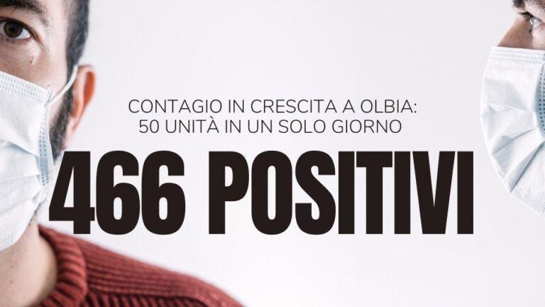 50 nuovi casi a Olbia. Ora i positivi sono 466