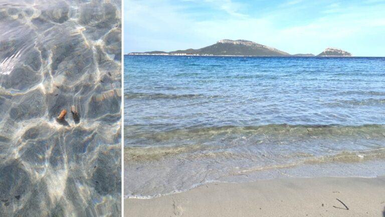 Spuntoni acuminati in mare a pochi passi dalla riva