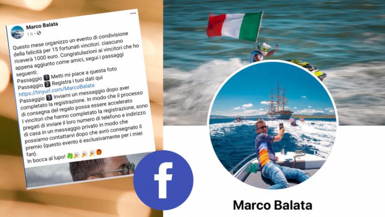 """""""Bucata"""" la pagina Facebook dell'assessore Balata. """"Un chiaro tentativo di furto d'identità"""""""